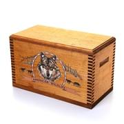 Loon Peak Wooden Accessory Box w/ ''Wildlife Series'' Wolf Print