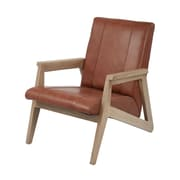 Loon Peak Pine Leather Armchair