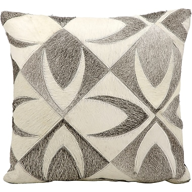 Loon Peak Raynolds Natural Leather Hide Throw Pillow