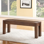 Loon Peak Gibson Wood Two Seat Dining Bench