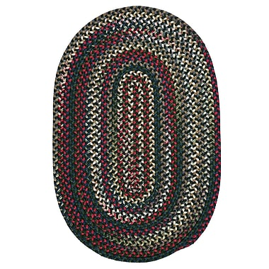 Loon Peak Roxborough Park Thyme Green Area Rug; Oval 2' x 3'