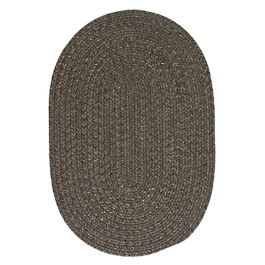 Loon Peak Abey Oliver Green Area Rug; Oval Runner 2' x 10'