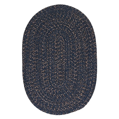Loon Peak Abey Navy & Blue Area Rug; Round 12'