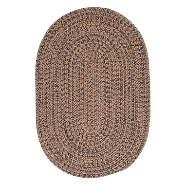 Loon Peak Abey Mocha Brown/Tan Area Rug; Oval Runner 2' x 12'