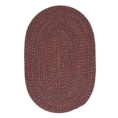 Loon Peak Abey Berry Red Area Rug; Oval Runner 2' x 10'