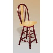Loon Peak Lockwood 24'' Swivel Bar Stool; Nutmeg / Rich Honey Light Oak