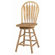 Loon Peak Lockwood 24.25'' Swivel Bar Stool; Rich Honey Light Oak