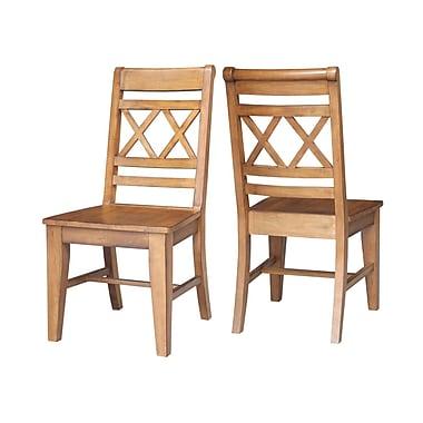 Loon Peak San Jose Side Chair (Set of 2); Pecan