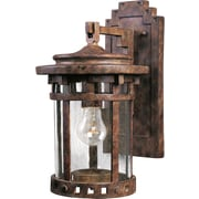 Loon Peak Casimir 1-Light Outdoor Wall Lantern; Small