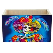 Novica Blue Catrina Wood Crate