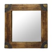 Novica Charming Image Wood Accent Wall Mirror