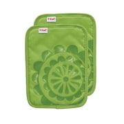 T-fal Medallion Cotton Silicone Potholder (Set of 2); Green