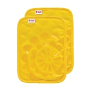 T-fal Medallion Cotton Silicone Potholder (Set of 2); Lemon