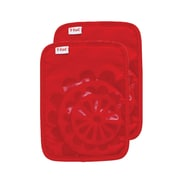 T-fal Medallion Cotton Silicone Potholder (Set of 2); Red