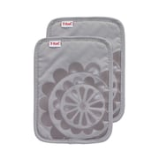 T-fal Medallion Cotton Silicone Potholder (Set of 2); Gray