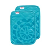 T-fal Medallion Cotton Silicone Potholder (Set of 2); Breeze