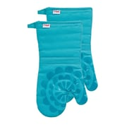 T-fal Medallion Cotton Silicone Oven Mitt (Set of 2); Breeze