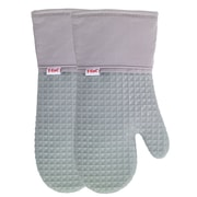 T-fal Waffle Silicone Oven Mitt (Set of 2); Gray
