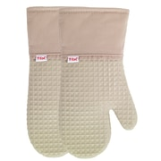 T-fal Waffle Silicone Oven Mitt (Set of 2); Sand