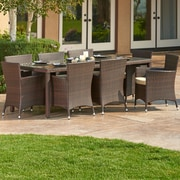 W Unlimited Doha 9 Piece Outdoor Wicker Dining Set