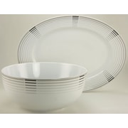 French Home European 2 Piece Platter and Serving Bowl Set