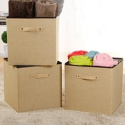 Lifewit 36L Folding Fabric Storage Bin (Set of 3)