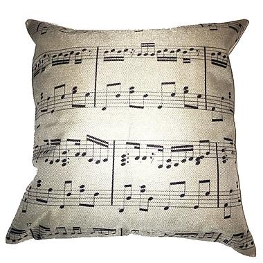 Lillowz Sheet Music 100pct Cotton Throw Pillow