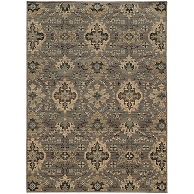 Red Barrel Studio Tackett Gray Area Rug; 1'10'' x 3'3''