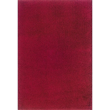 Red Barrel Studio Mazon Solid Red Area Rug; 4' x 6'