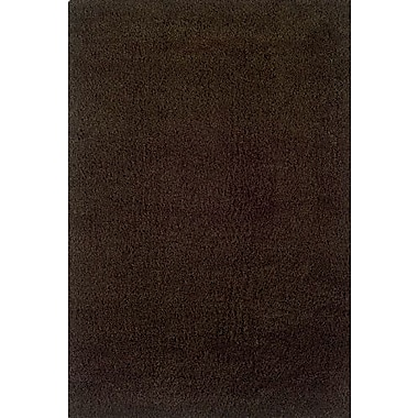 Red Barrel Studio Mazon Solid Brown Area Rug; 6'7'' x 9'6''