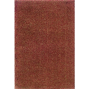 Red Barrel Studio Mazon Tweed Red/Gold Area Rug; Square 8'