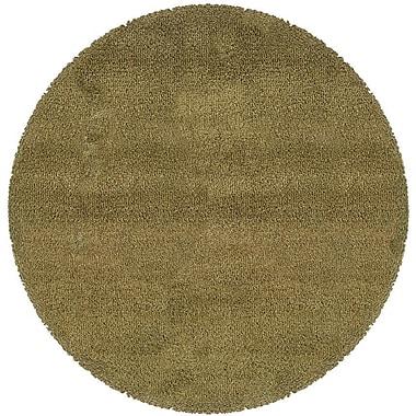 Red Barrel Studio Mazon Tweed Green/Gold Area Rug; Round 8'