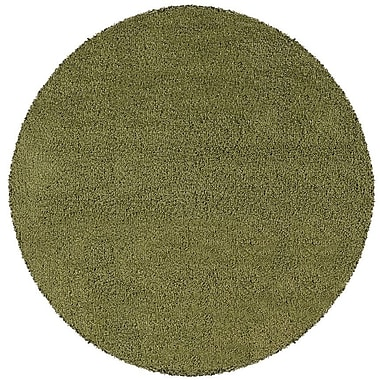 Red Barrel Studio Mazon Solid Green Area Rug; Round 6'