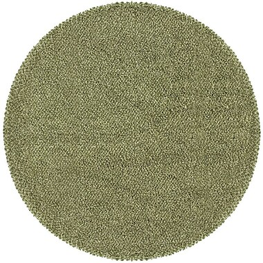 Red Barrel Studio Mazon Tweed Green/Ivory Area Rug; Round 8'
