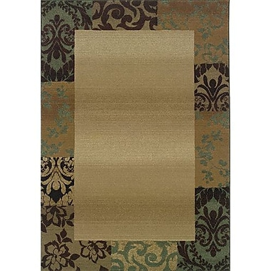 Red Barrel Studio Sabanc Beige/Green Area Rug; Square 8'