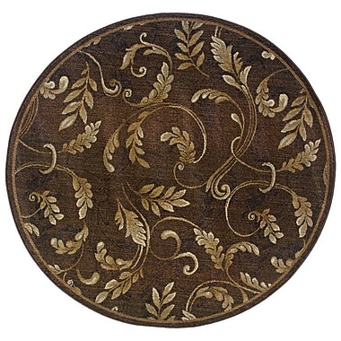Red Barrel Studio Sabanc Brown/Beige Area Rug; Round 6'