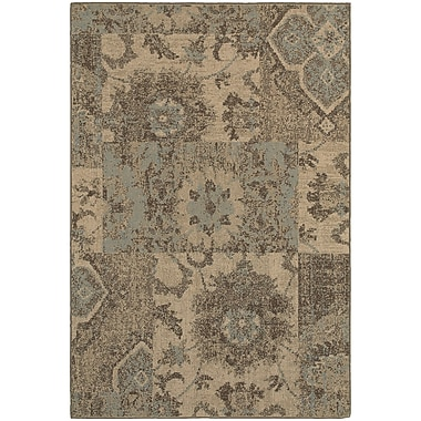 Red Barrel Studio Schaumburg Tan/Blue Area Rug; 3'10'' x 5'5''