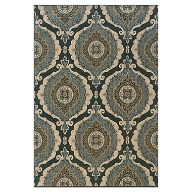 Red Barrel Studio Schaumburg Blue/Ivory Area Rug; 6'7'' x 9'6''