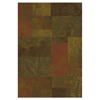 Red Barrel Studio Matteson Green/Red Area Rug; 5'3'' x 7'6''
