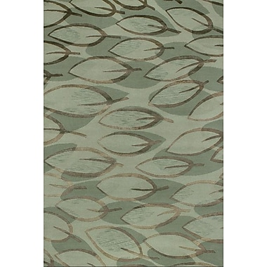 Red Barrel Studio Sandoval Hand-Knotted Sage Area Rug; 6' x 9'
