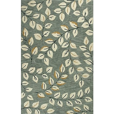 Red Barrel Studio Lager Head Leaves Green Area Rug; 3'3'' x 5'3''