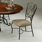 Fleur De Lis Living Cafferata Metal Leg Side Chair; Autumn Rust