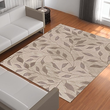 Red Barrel Studio Bryant Hand-Tufted Ivory Area Rug; 5' x 7'9''