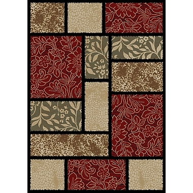 Red Barrel Studio Arch Hill Modern Panel Red Area Rug; 5' x 8'