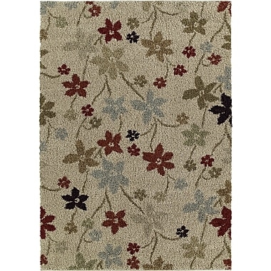 Red Barrel Studio Ariadne Prissy Floral Beige Area Rug; 5' x 8'