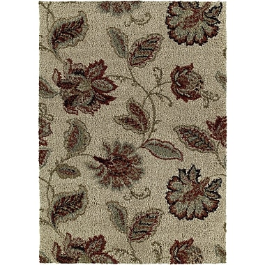 Red Barrel Studio Ashleaf Floral Beige Area Rug; 8' x 10'