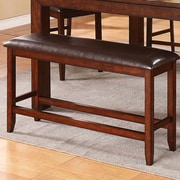 Red Barrel Studio Brookstonval Wood Dining Bench
