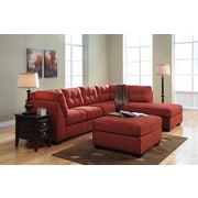 Red Barrel Studio Ellersick Ottoman; Sienna