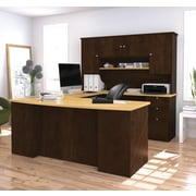 Red Barrel Studio Independence Executive Desk w/ Hutch; Birch