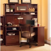 Red Barrel Studio Hillsdale Corner Computer Desk w/ Hutch; Harvest Cherry